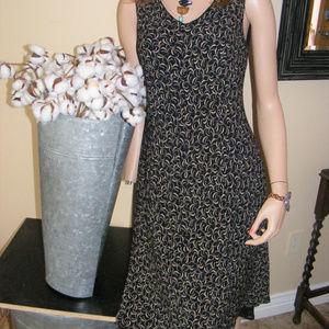 ANN Taylor Loft Summer Print Dress Rayon wUndrslip